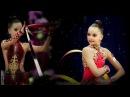 Averina Dina and Arina Rhythmic gymnastics Russia 1998