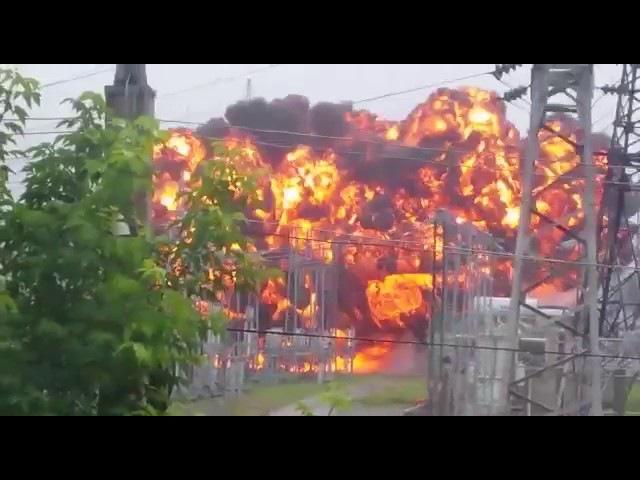 Взрыв трансформатора 110кв томск