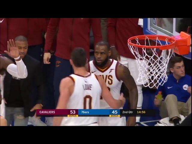 【NBA】Lebron James buzzer beater Cavs vs Sixers Nov 27, 2017-18 NBA Season