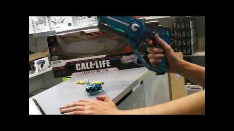 Спасение Земли от Арахнидов - Лазерный тир пистолет и жук W7001