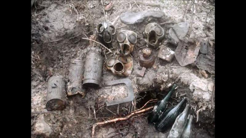 ZONDER Трофеи времен ВОВ. Коп немецкого блиндажа 10 /excavations of the German dugout WW2