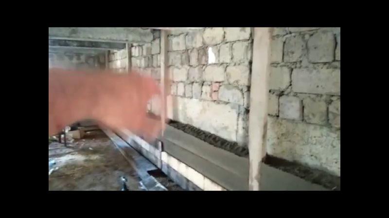 Опилкобетон вместо штукатурки-выравнивание стен в подвале