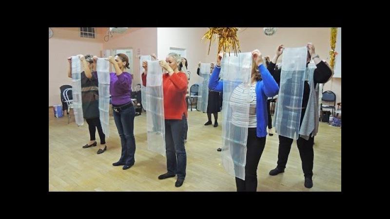 Детский танец с платками. Видео с семинара Боровик Татьяны Анатольевны. (Постановка номера)