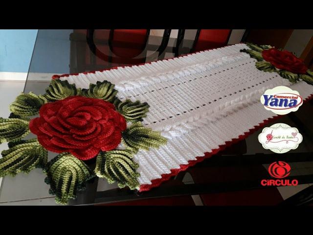MEGA ROSA RUBI DE NATAL/trilho de mesa 1/2