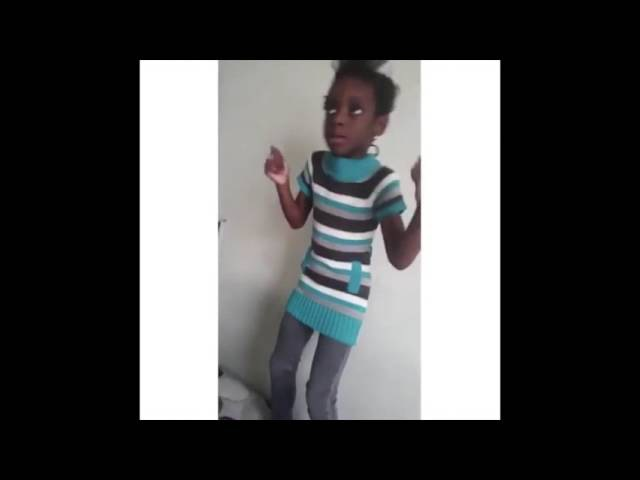 Little Black Girl Dancing and Hitting the Dab