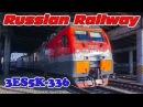 Locomotive Ermak 3ES5K-336 with freight train / Локомотив Ермак 3ЭС5К-336 с грузовым поездом