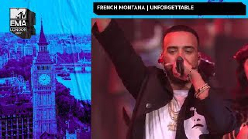 French Montana Swae Lee Perform 'Unforgettable' | MTV EMAs 2017 | Live Performance