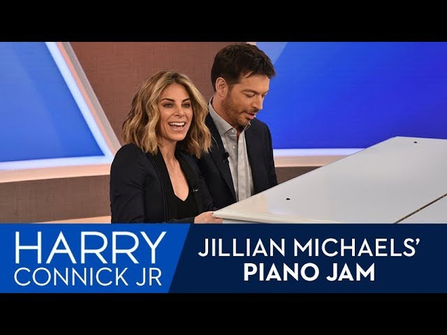 Harry Teaches Jillian Michaels To Play Piano