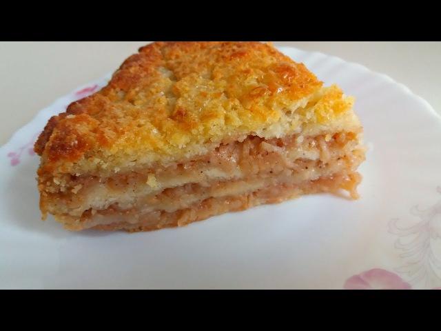 Обалденный Яблочный Пирог за 5 минут Выпечка Пирог Три Стакана Просто и Очень Вкусно