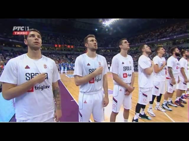 Himna Srbije (Nevena Božović, na utakmici Srbija - Grčka)