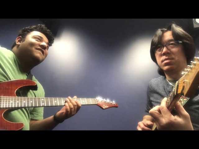 Berklee Private Guitar Lesson /Working on Donna Lee with my student / Tomo Fujita