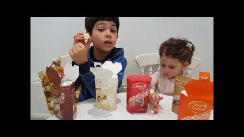 Learn Colors and Taste with Colored Chocolate Lindt /for Children and Toddlers