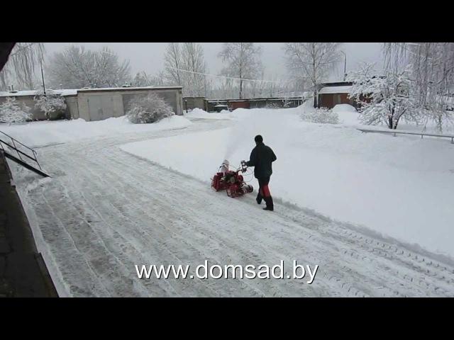 Уборка снега мотоблоком Салют5-Л6.5 (Агат-Л6.5)