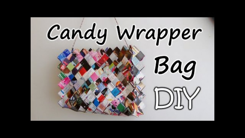 How To Make A Zig Zag Candy Wrapper Bag / Purse Part 2