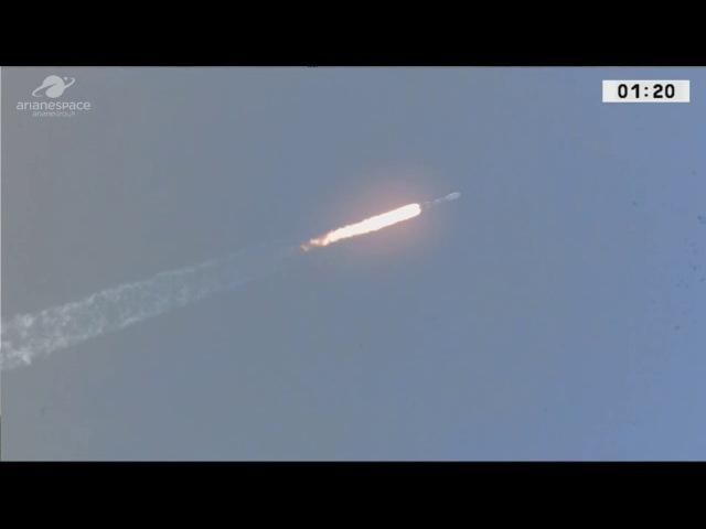 Liftoff - LIVE Arianespace Soyuz 2-1b Rocket VS18 Launching O3b F4 Four Communications Satellites