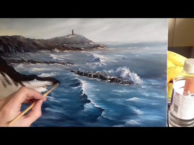 HOW TO PAINT A SEASCAPE IN OILS