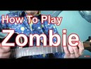 The Cranberries Zombie Guitar Tutorial Zombie Acoustic Guitar Tutorial Chords Lesson