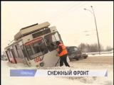 Снегопад и ДТП в утренний час пик спровоцировали серьёзные автомобильные заторы