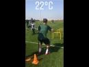 Утренняя тренировка Краснодара в Абу Даби