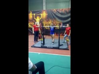 Алёхин М. Армейский жим 120 кг на Кубке Европы ФЖД 21.10.2017