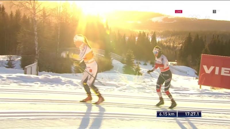 Кубок Мира 2017-18 / Этап 02 / Лиллехаммер (Норвегия) / Женщины. Скиатлон / Eurosport