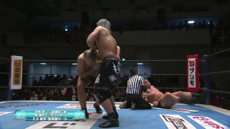 Yujiro Takahashi, Hikuleo vs. Manabu Nakanishi, Tomoyuki Oka (NJPW - Road to the New Beginning 2018 - Day 6)