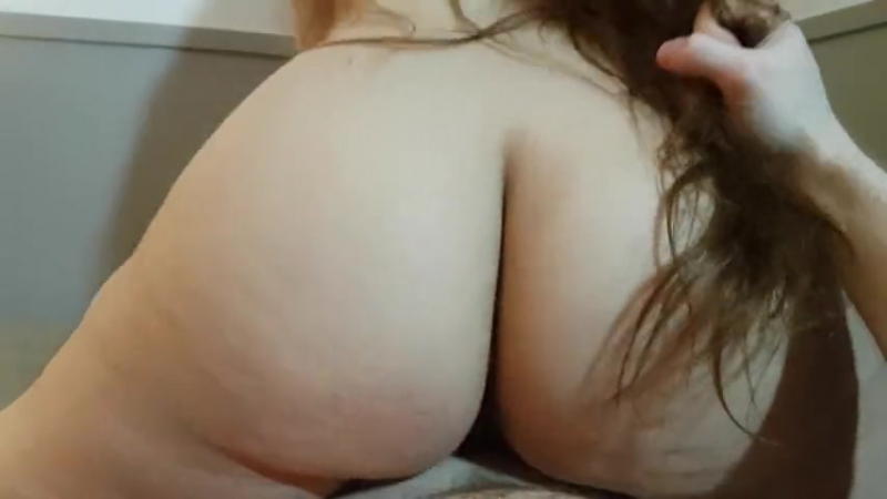 THICK BRUNETTE WIFE WITH GIANT ASS RIDES REVERSE COWGIRL UNTIL HOT CREAMPIE big ass butts booty tits boobs