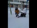 борьба в снегу девочек