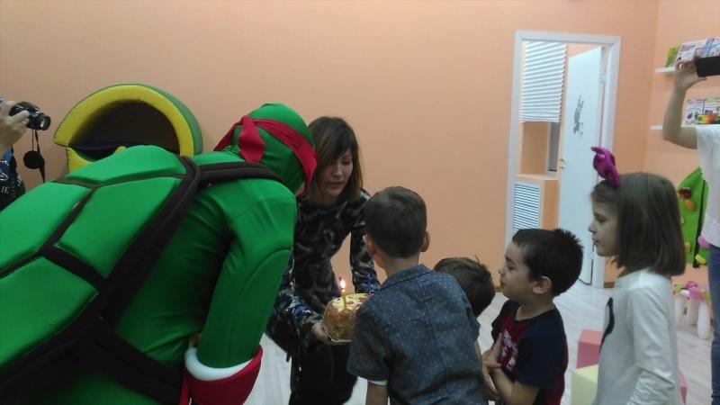 День Рождения с супер героем Леонардо черепашкой ниндзя
