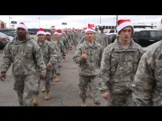 Christmas celebration by U.S. Marines, 12/25/2017.  Рождество в Морской пехоте США.