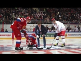 Следж-хоккеисты на матче Россия - Беларусь