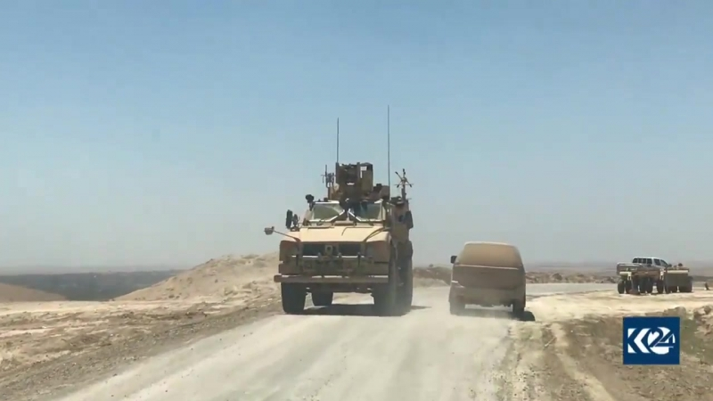 Some footage of SDF Operation in DeirEzzor. Iraqi Army position spotted in the distance. - - U.S SOF vehicle also spotted later