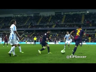 Lionel Messi + Dani Alves   It was amazing.
