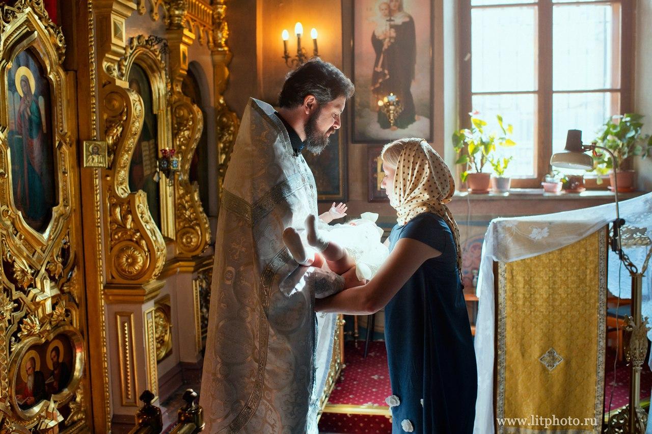 съемка крещения фотограф