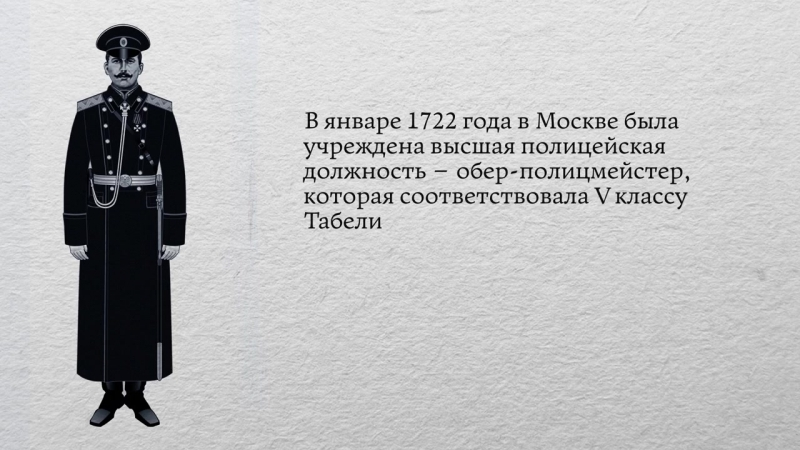 Проект История российской полиции Выпуск 4