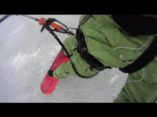 Обзор сноукайтборда Nobile NHP snowkite 164, по льду!!!