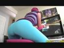 Видео - PornoStar  Секси девушка обтягивающие лосины леггинсы упругая попка стройные ножки ню sexy girl leggins big ass pantyhos