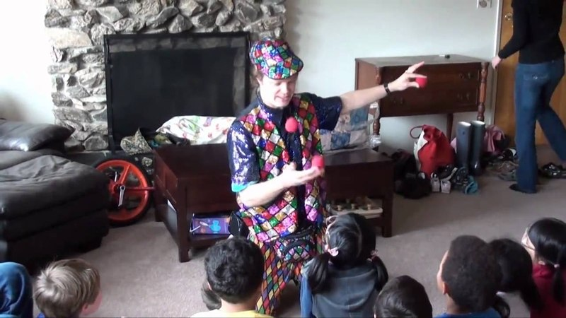 Juggling and Origami Show at Charlie's Birthday Party, by Jeremy Shafer