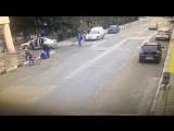 Водитель на перекрестке переехал группу велосипедистов