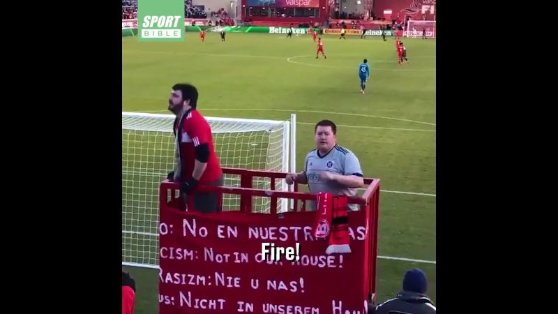 Don't mess with these Chicago Fire ultras...