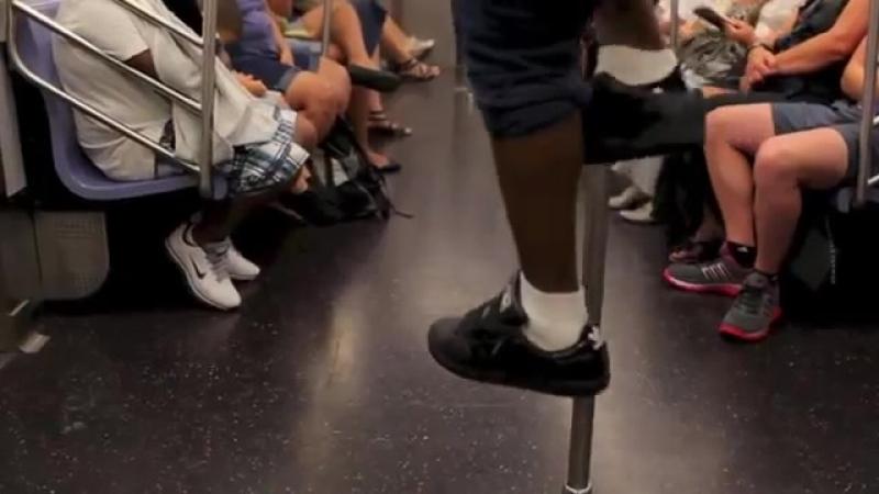 Subway Dancers Lost footage Of Goofy Dancing in Yeezy 2's 20882