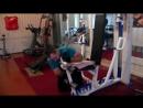 Тренировка армреслинга в блоке.