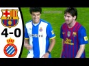 The First Time Messi Met Coutinho Barcelona vs Espanyol 4 0 Goals and Highlights 2011 12