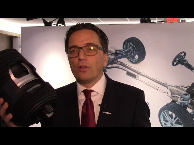 Vibracoustic CEO Frank Mueller talks about his companys anti-vibration products at NAIAS