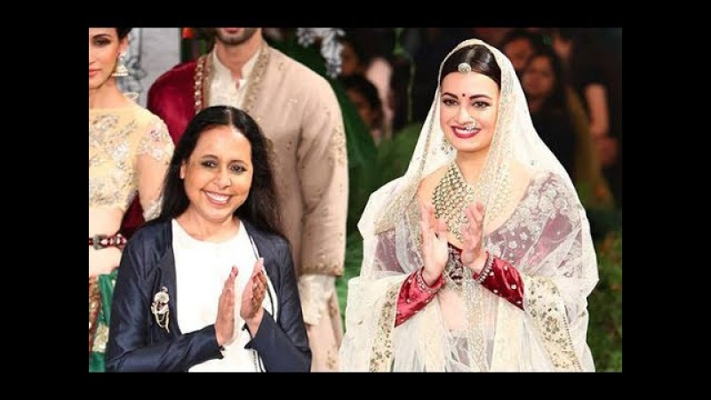 Anju Modi Sunehri Kothi Dia Mirza India Couture Week 2017 FDCI ANX Media