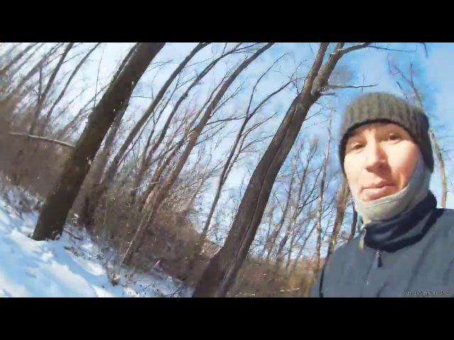 Прогулка на лыжах в лесу. Туймазы 23февраля 2018год.