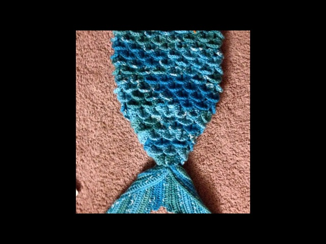 Mermaid Tail Video 1 - cucoon/Blanket/outfit crochet English
