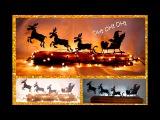 DIY Santa en Trineo, SILUETAS luminosas. NAVIDAD - RENOS VOLADORES. Pap