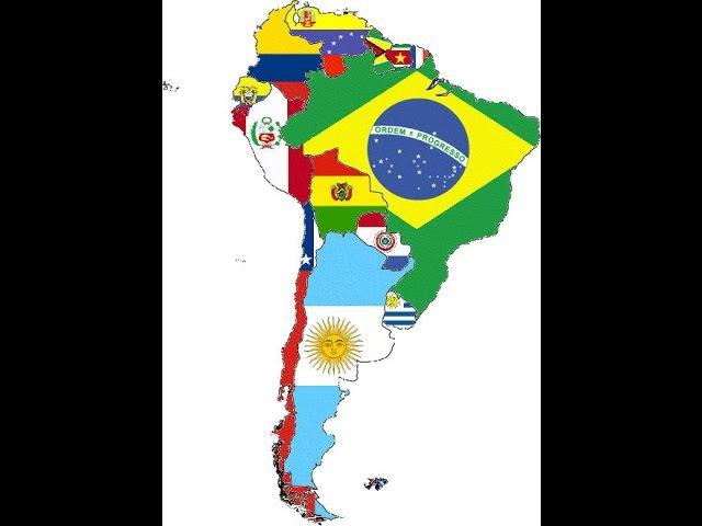 El significado de las banderas en los países Latinoamericanos Sudamérica