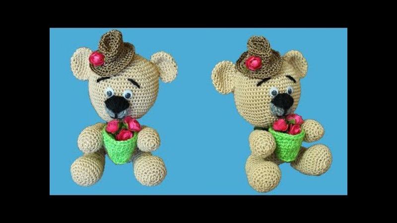 Как связать мишку Медведь крючком Мишка крючком Вязание амигуруми Ч 1 teddy bear P 1